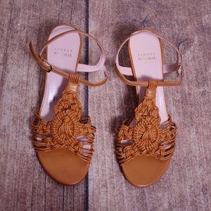 Stuart Weitzman Cage Kitten Heey Sandals Size 5.5